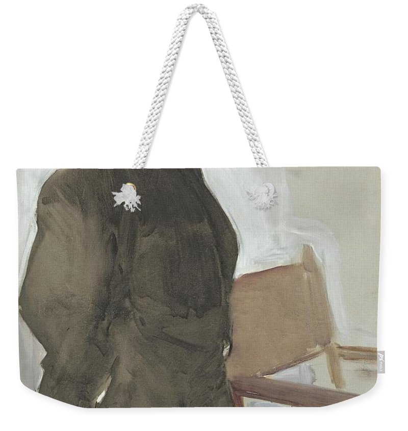 Sorolla Weekender Tote Bag featuring the painting El Beso De La Reliquia by MotionAge Designs