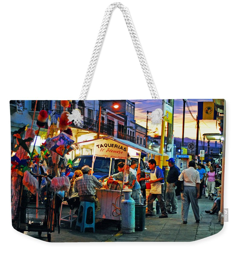 Skip Hunt Weekender Tote Bag featuring the photograph El Flamazo by Skip Hunt