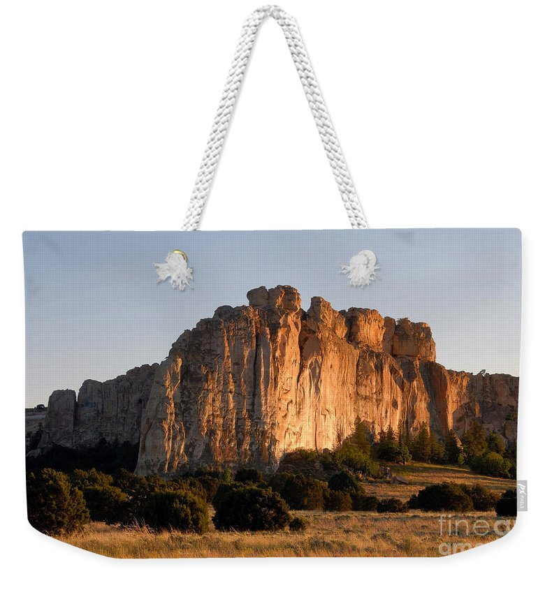 El Morro National Monument New Mexico Weekender Tote Bag featuring the photograph El Morro by David Lee Thompson