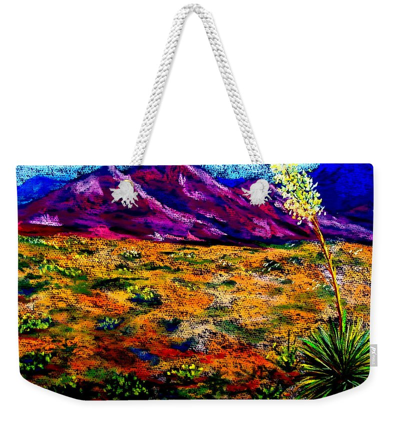 Yucca Weekender Tote Bag featuring the painting El Paso by Melinda Etzold