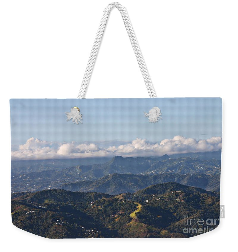 Mountains Weekender Tote Bag featuring the photograph El Yunque Way by Gilbert