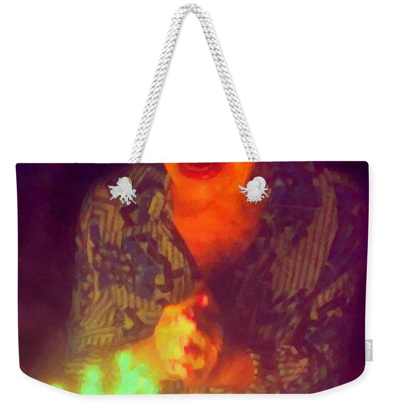 Elderly Joy Weekender Tote Bag featuring the digital art Elderly Joy by Caito Junqueira