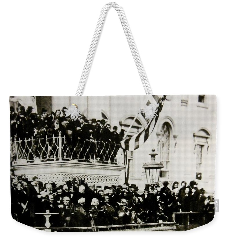 Photo Weekender Tote Bag featuring the photograph Election Day by Lord Frederick Lyle Morris - Disabled Veteran