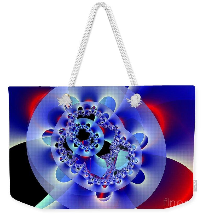 Fan Weekender Tote Bag featuring the digital art Electric Fan by Ron Bissett