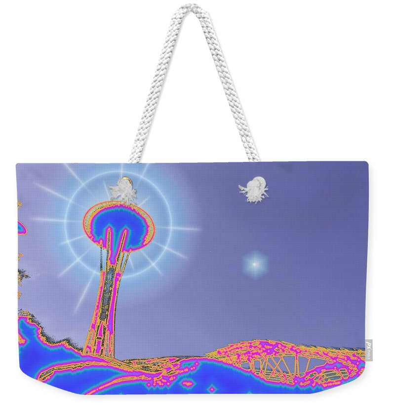Seattle Weekender Tote Bag featuring the photograph Electric Needle by Tim Allen