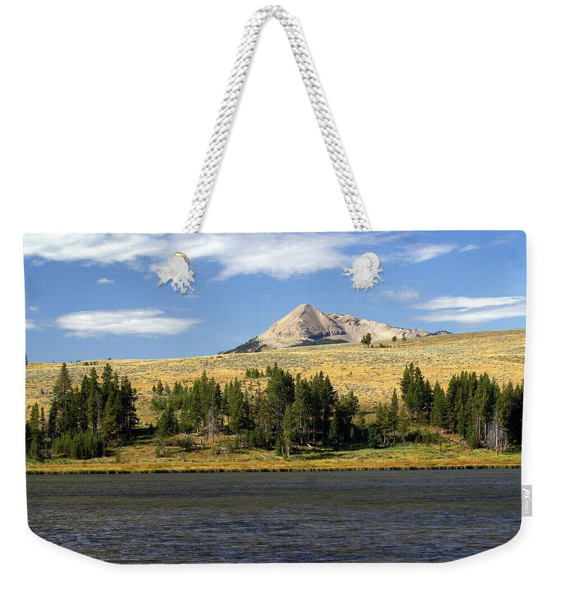 Yellowstone National Park Weekender Tote Bag featuring the photograph Electric Peak 1 by Marty Koch