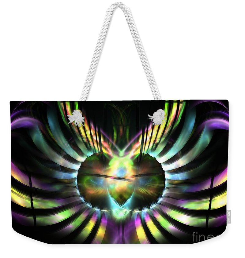 Apophysis Weekender Tote Bag featuring the digital art Electric Wings by Kim Sy Ok