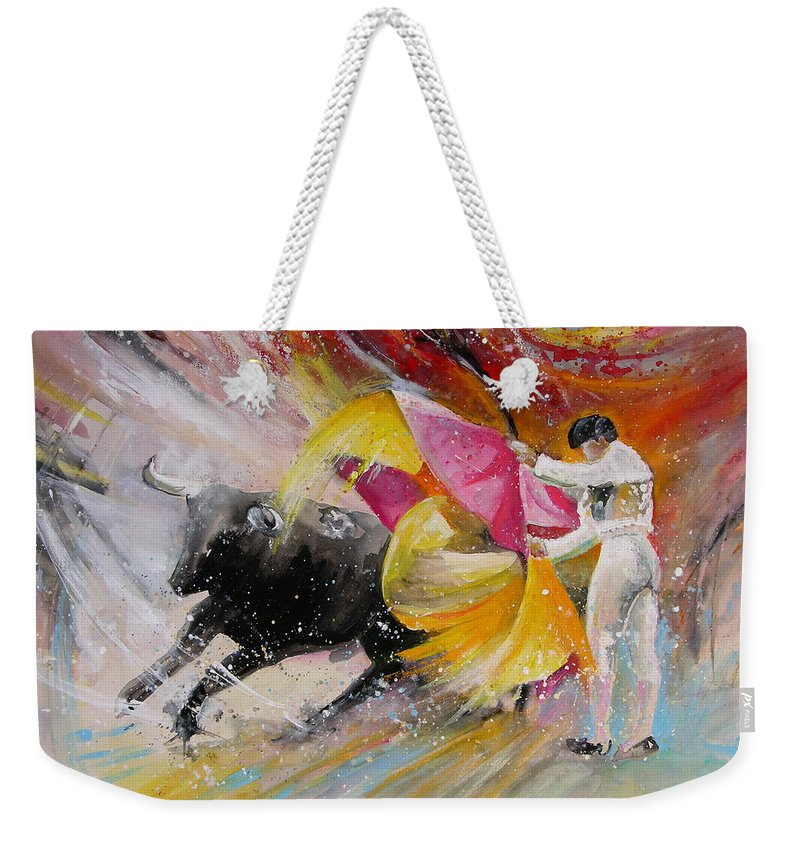 Animals Weekender Tote Bag featuring the painting Elegance by Miki De Goodaboom