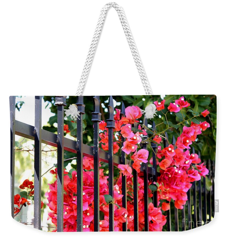 Garden Weekender Tote Bag featuring the photograph Elegant Fence by Carol Groenen