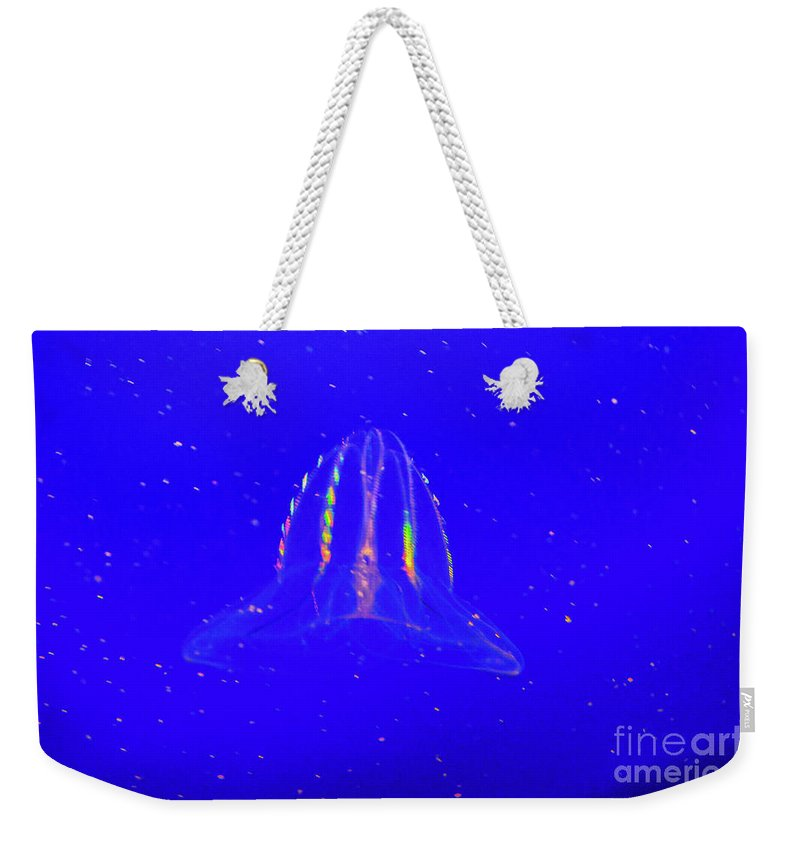 Monterey Bay Weekender Tote Bag featuring the photograph Elegant Jellies by Tommy Anderson