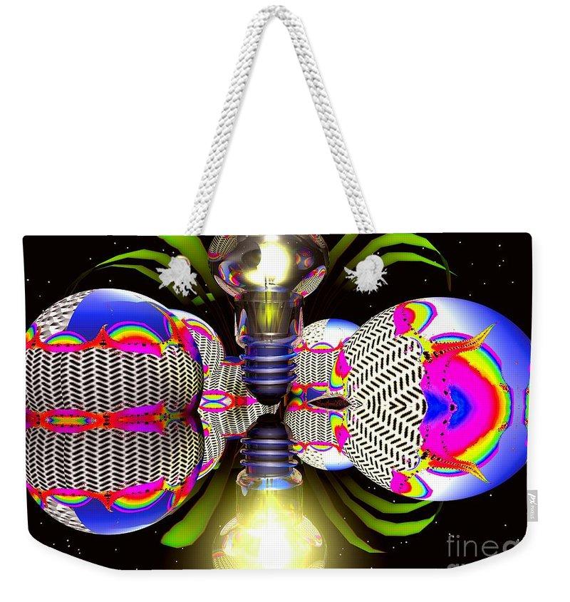 Sphere Weekender Tote Bag featuring the digital art Element Of Suprise by Robert Orinski