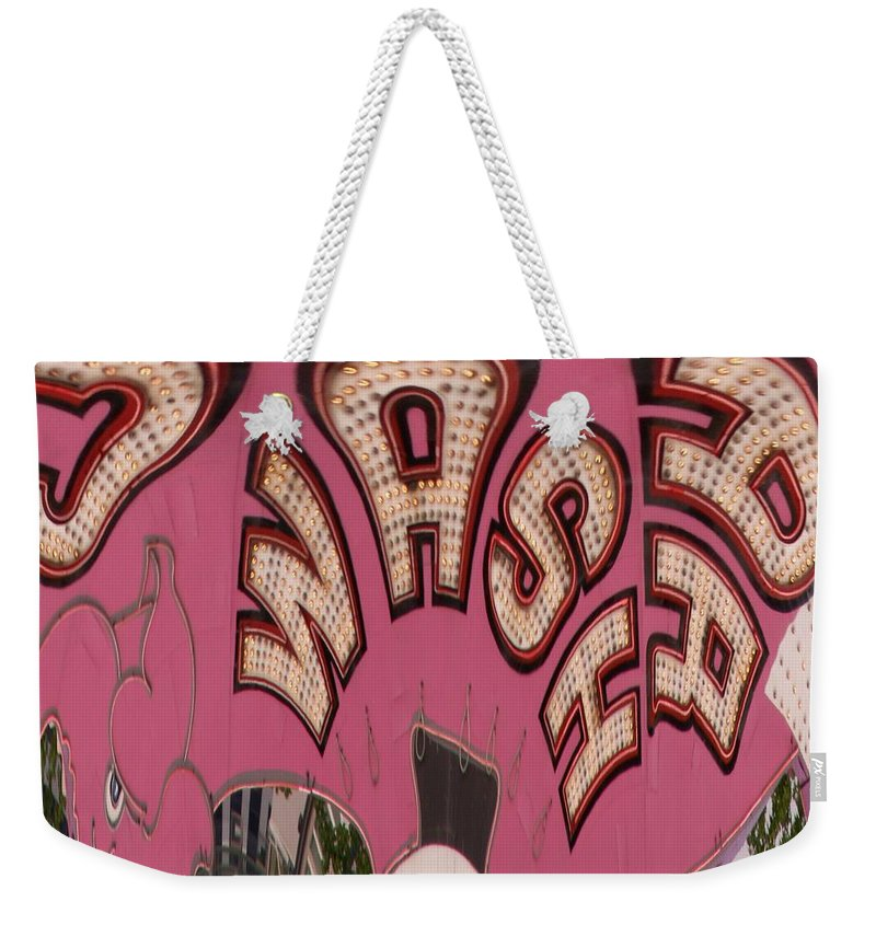 Seattle Weekender Tote Bag featuring the digital art Elephant Car Wash by Tim Allen
