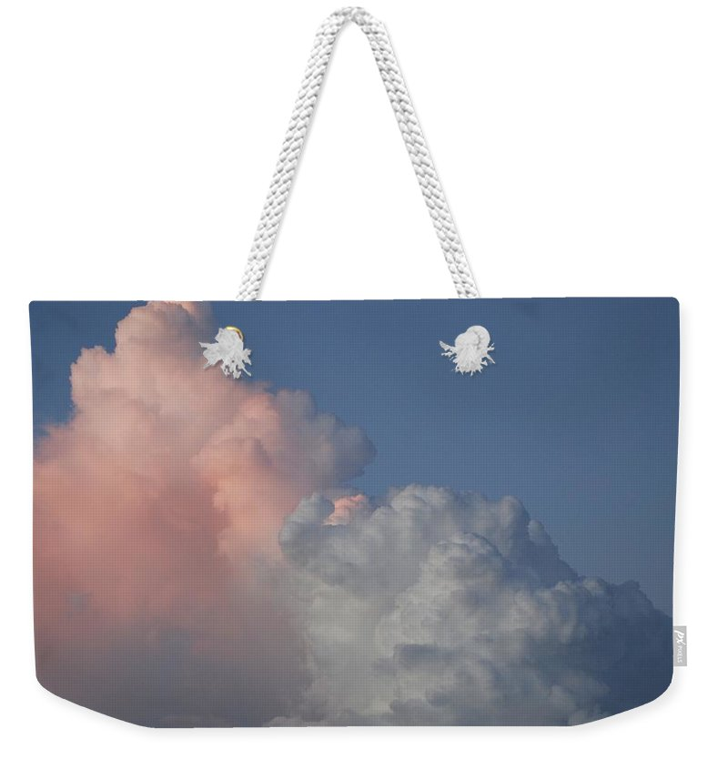 Clouds Weekender Tote Bag featuring the photograph Elephant Cloud by Rob Hans