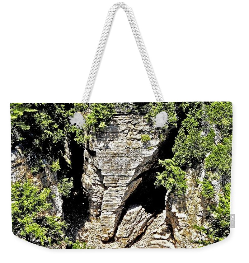 North America Weekender Tote Bag featuring the photograph Elephant Head ... by Juergen Weiss