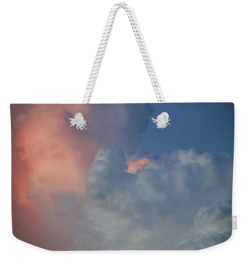 Clouds Weekender Tote Bag featuring the photograph Elephant In The Sky by Rob Hans