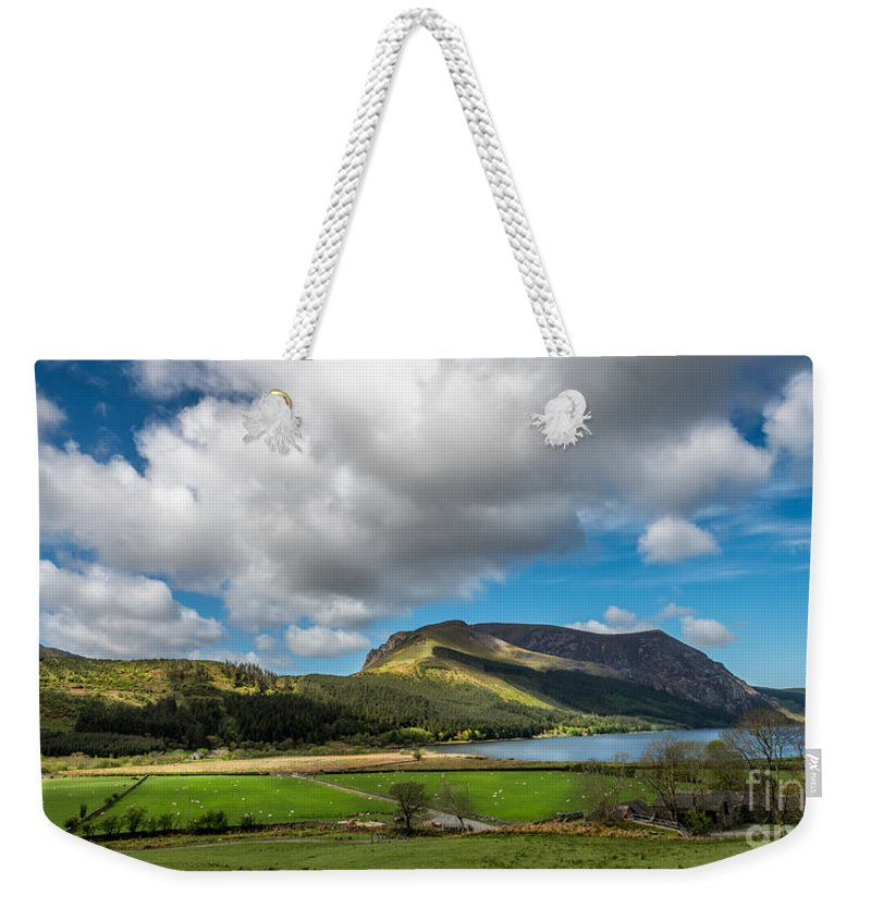Cwellyn Lake Weekender Tote Bag featuring the photograph Elephant Mountain by Adrian Evans