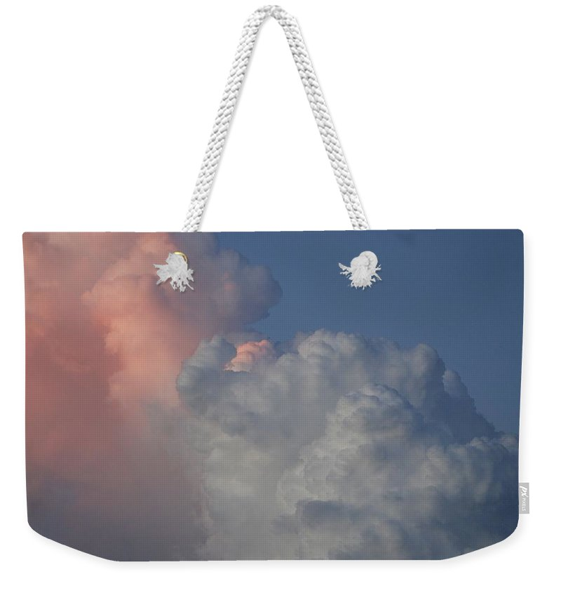 Clouds Weekender Tote Bag featuring the photograph Elephant Sky by Rob Hans