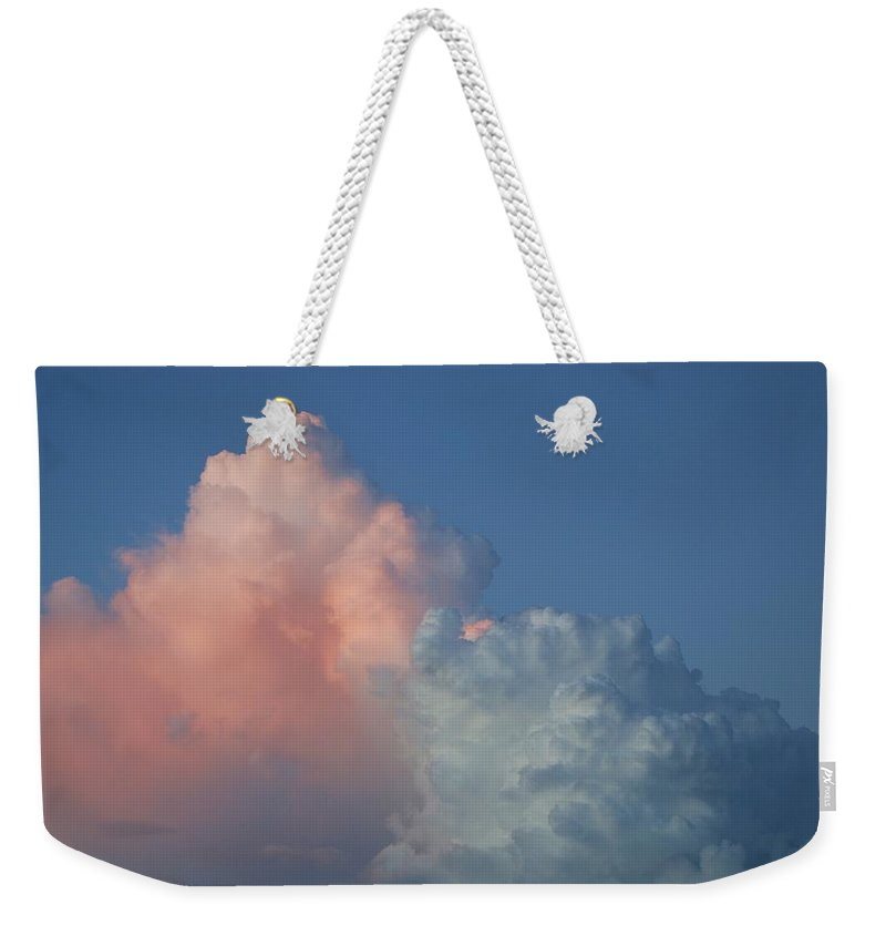 Clouds Weekender Tote Bag featuring the photograph Elephants Clouds by Rob Hans