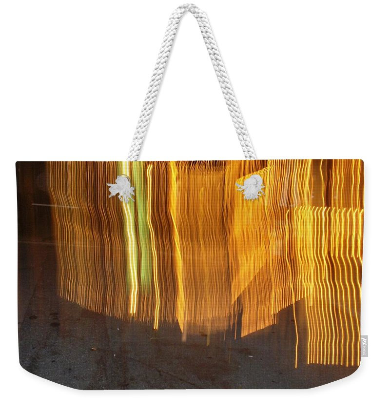 Photograph Weekender Tote Bag featuring the photograph Eletric Fence by Thomas Valentine