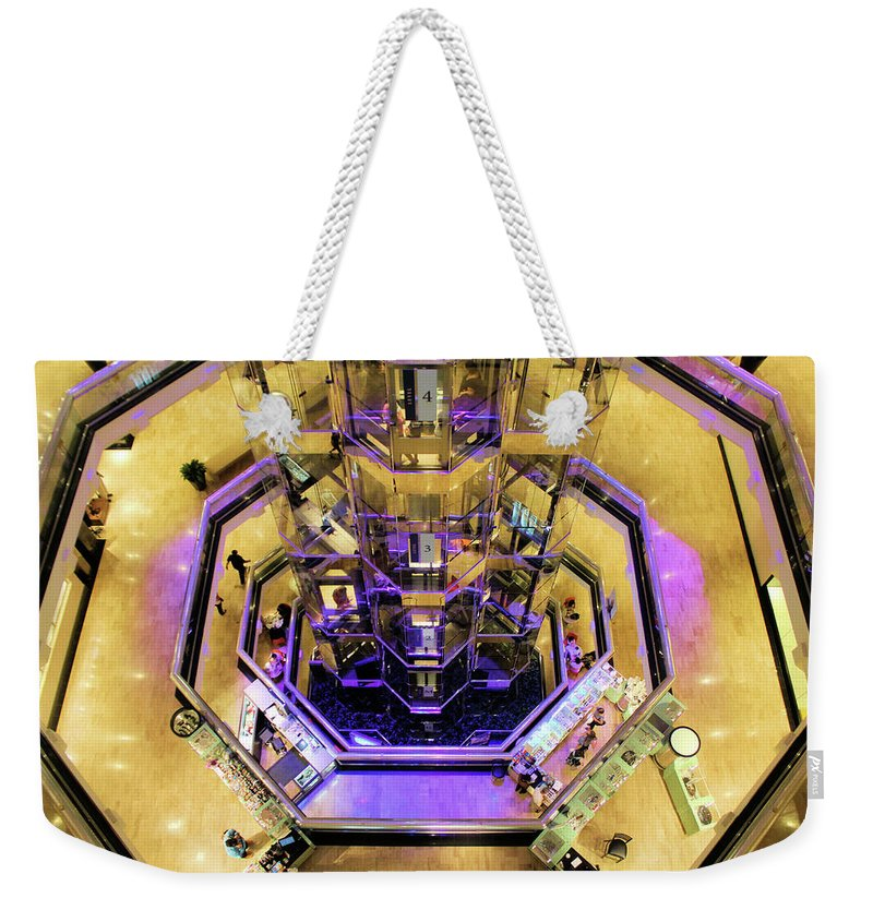 Chicago Weekender Tote Bag featuring the photograph Elevation by Tyquill Williams