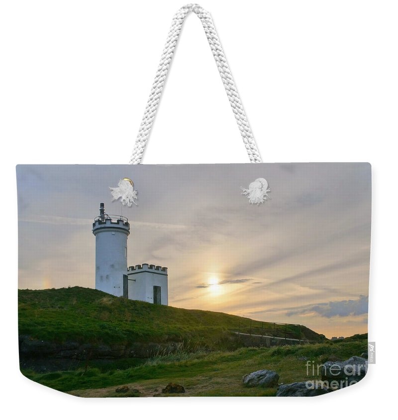 Elie Lighthouse Weekender Tote Bag featuring the photograph Elie Lighthouse. Late Afternoon. by Elena Perelman