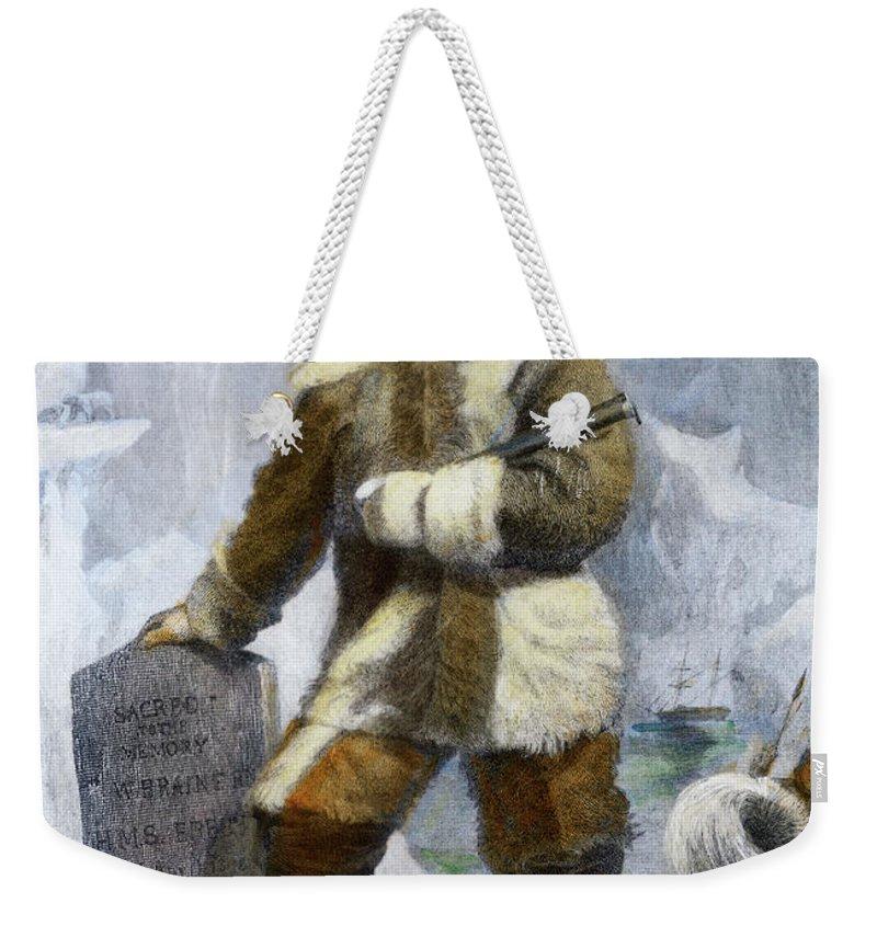 19th Century Weekender Tote Bag featuring the drawing Elisha Kent Kane, 1820-1857 by Granger