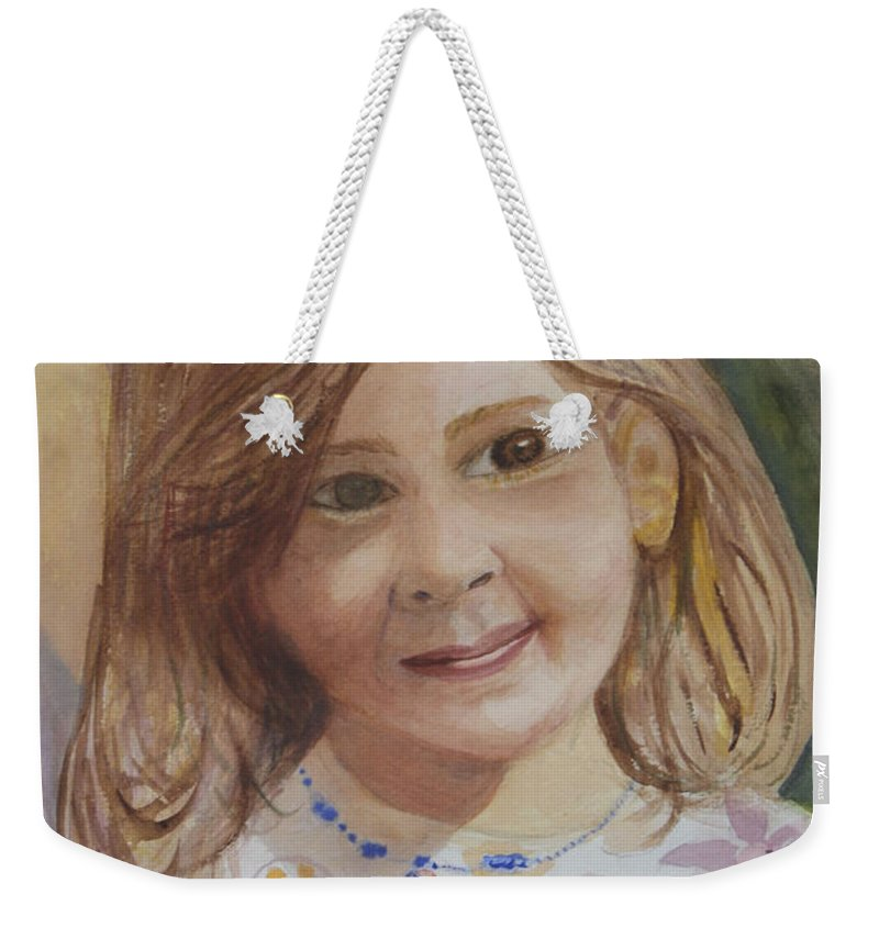 Elizabeth Weekender Tote Bag featuring the painting Elizabeth by Donna Walsh