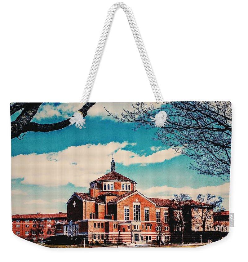 Landscape Weekender Tote Bag featuring the photograph Elizabeth Seton Shrine by Paul Kercher