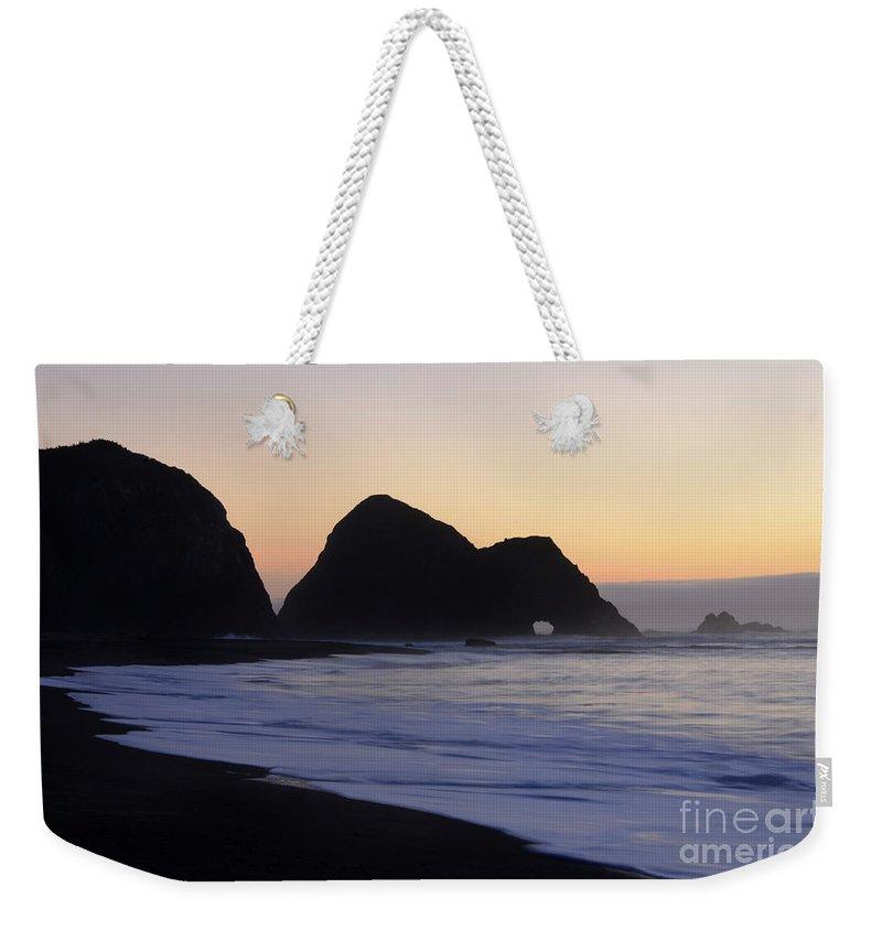 Elk Beach Weekender Tote Bag featuring the photograph Elk Beach California by Bob Christopher