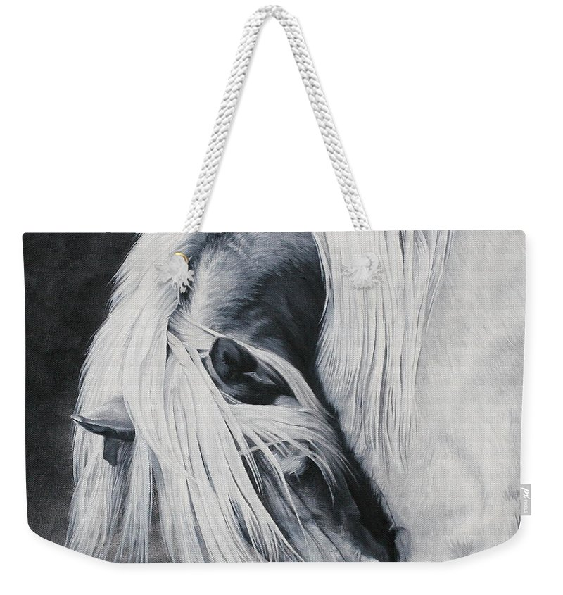 Oil Weekender Tote Bag featuring the painting Elsa's Itch by Pauline Sharp
