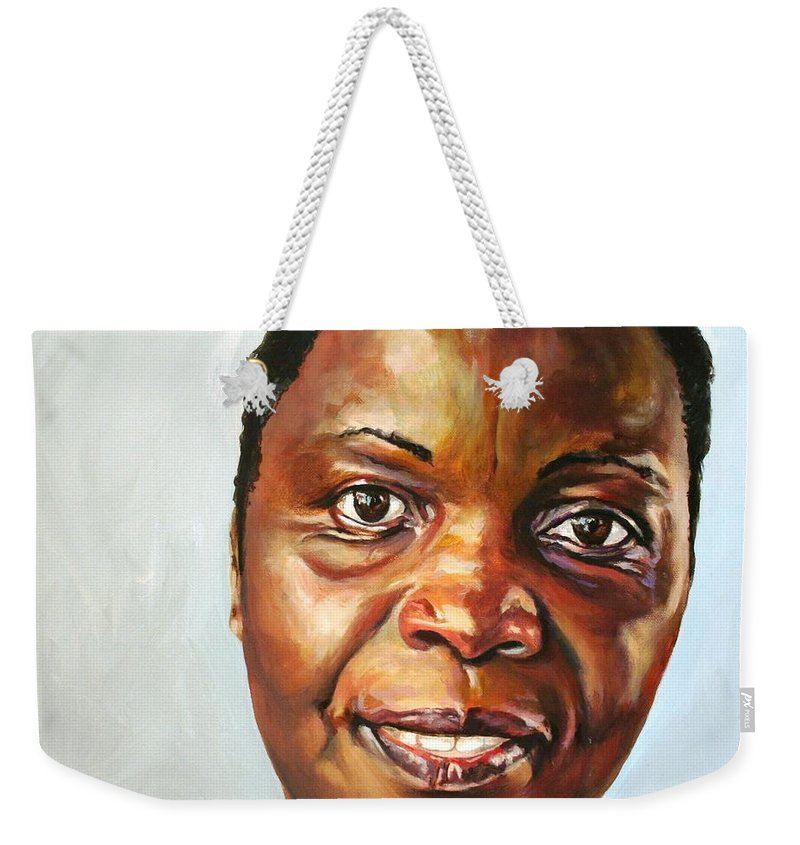 Portrait Weekender Tote Bag featuring the painting Elsie by Jolante Hesse