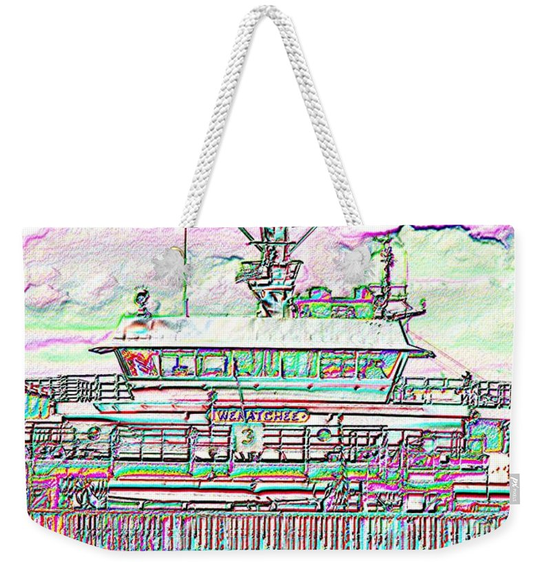 Seattle Weekender Tote Bag featuring the photograph Embarking by Tim Allen