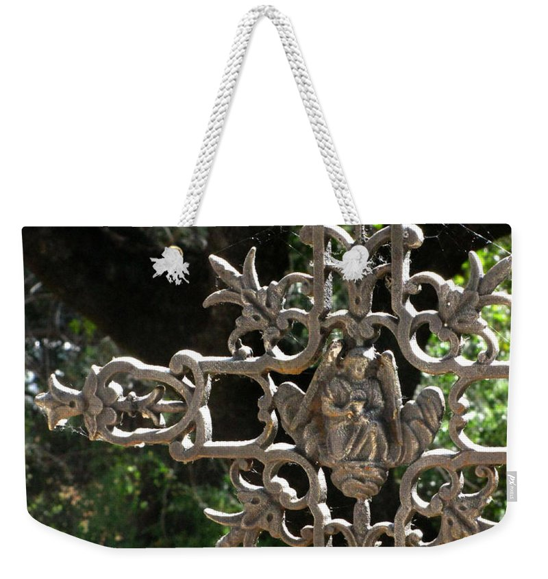 Embellished Cross Weekender Tote Bag featuring the photograph Embellished Cross by Peter Piatt