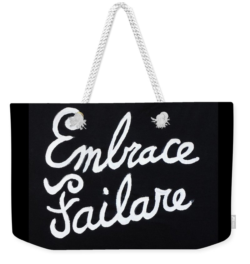 Failure Weekender Tote Bag featuring the painting Embrace Failare by John Kilduff