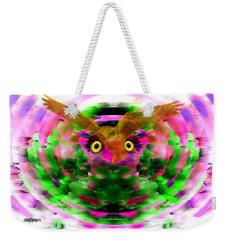 Embrace Weekender Tote Bag featuring the digital art Embrace The Wind by Seth Weaver
