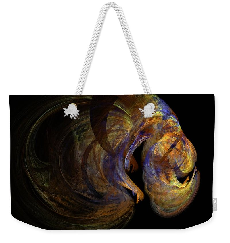 Abstract Digital Photo Weekender Tote Bag featuring the digital art Embryonic by David Lane