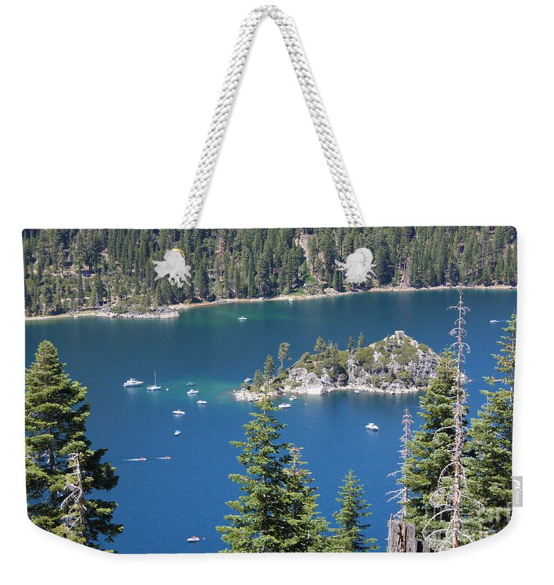 Emerald Bay Weekender Tote Bag featuring the photograph Emerald Bay by Carol Groenen