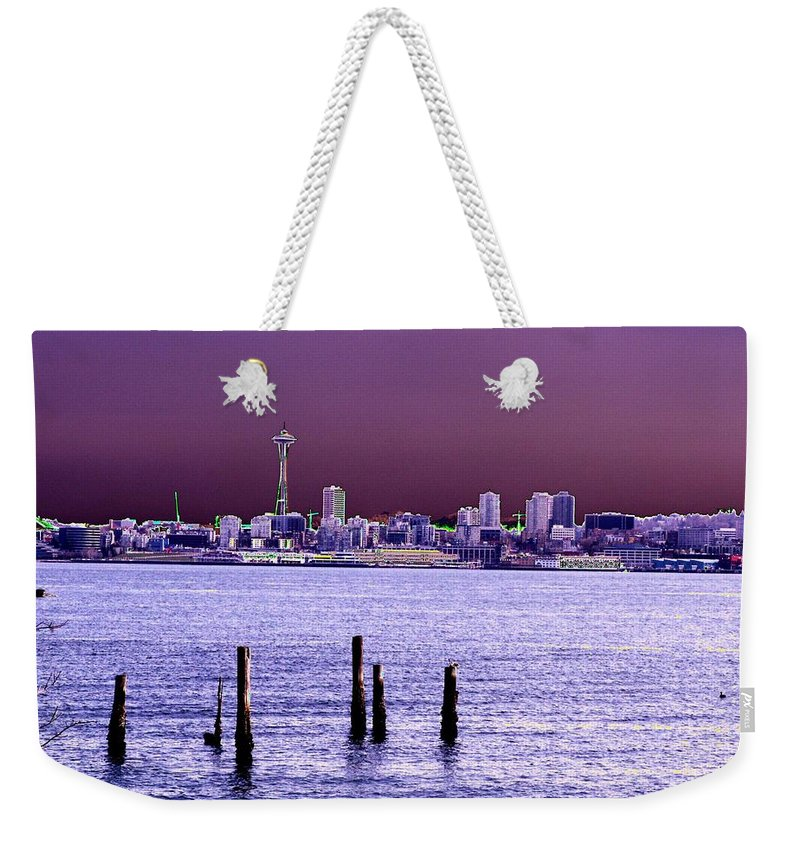 Seattle Weekender Tote Bag featuring the photograph Emerald City Skyline by Tim Allen