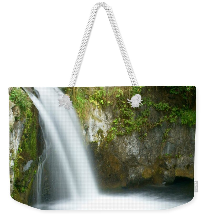 Waterfall Weekender Tote Bag featuring the photograph Emerald Falls by Marty Koch