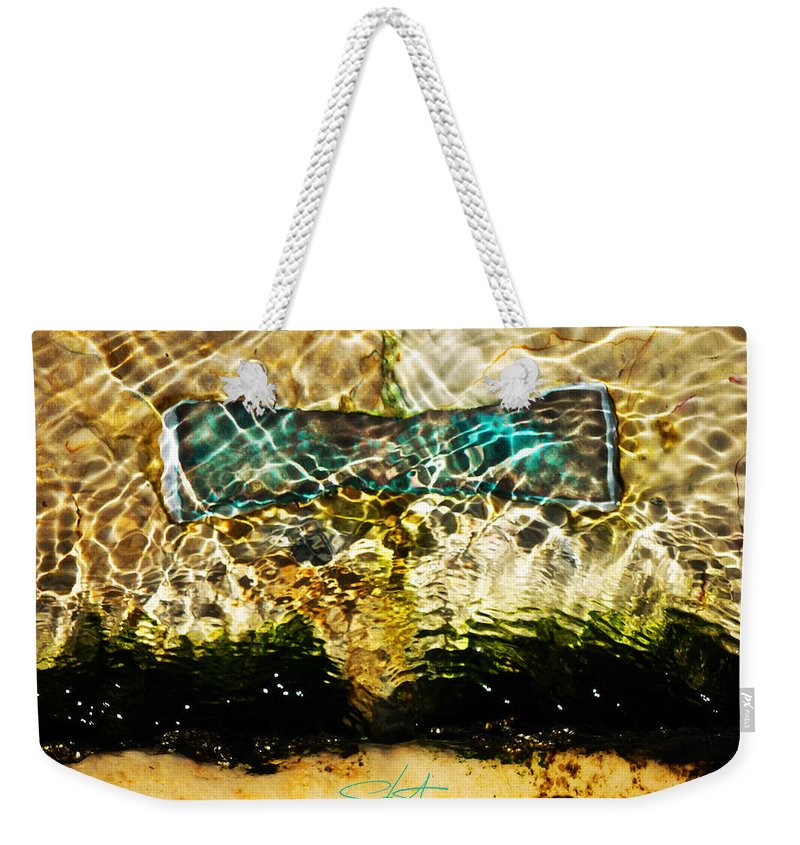 Ocean Weekender Tote Bag featuring the photograph Emerald Ripples by Charles Stuart