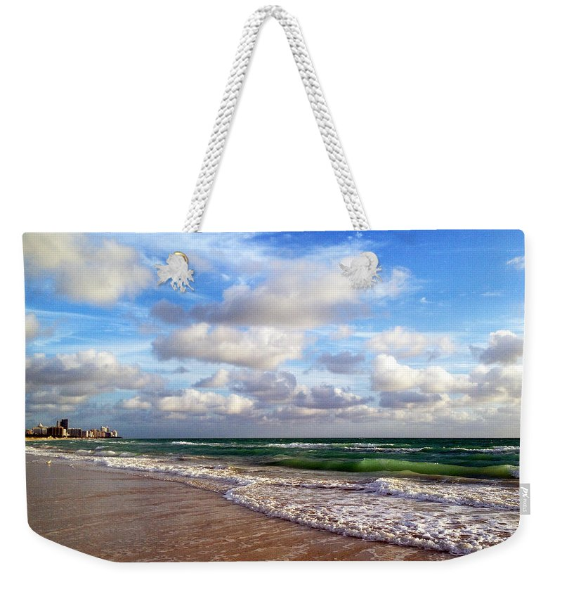 Angel Weekender Tote Bag featuring the photograph Emerald Seas by Raymel Garcia