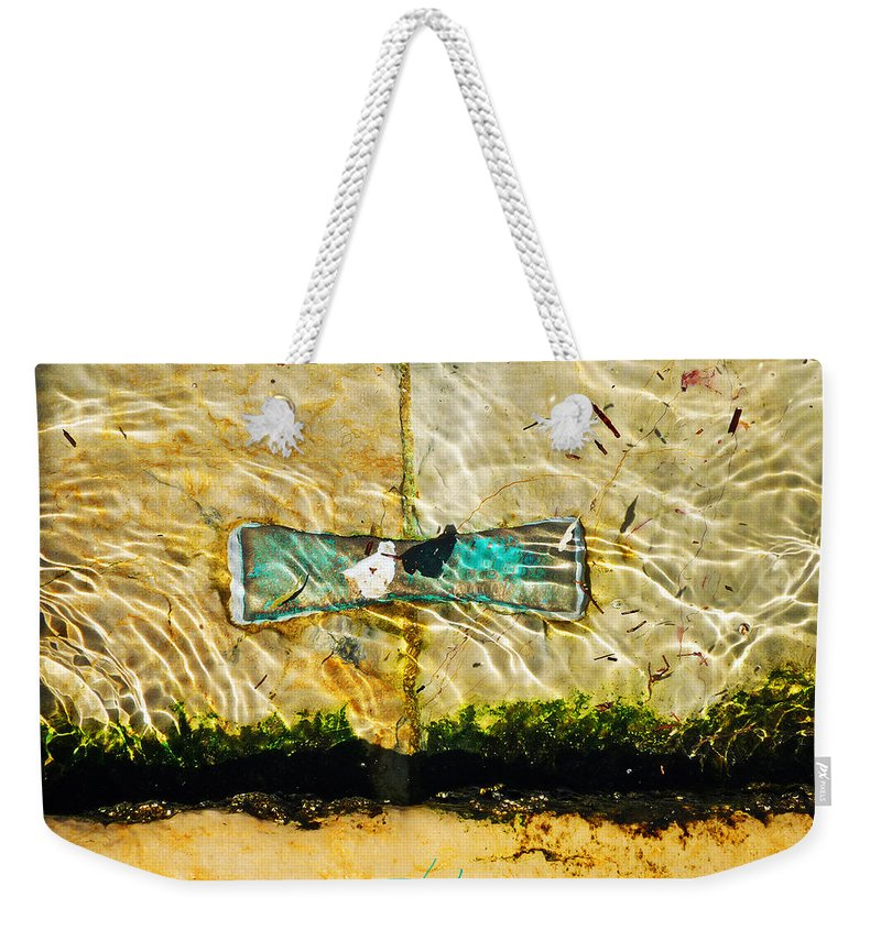 Ocean Weekender Tote Bag featuring the photograph Emerald Tide by Charles Stuart
