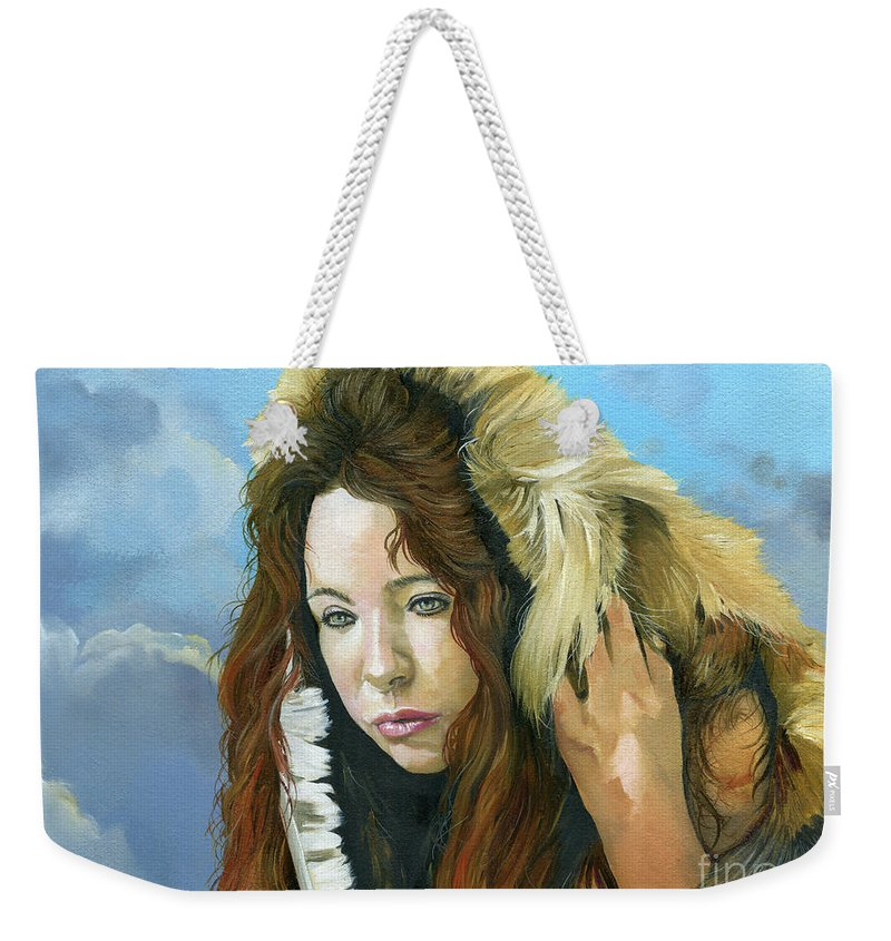 Emergence Weekender Tote Bag featuring the painting Emergence by J W Baker