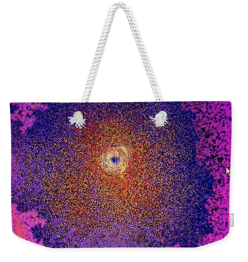 Abstract Weekender Tote Bag featuring the digital art Emerging Star by Ian MacDonald
