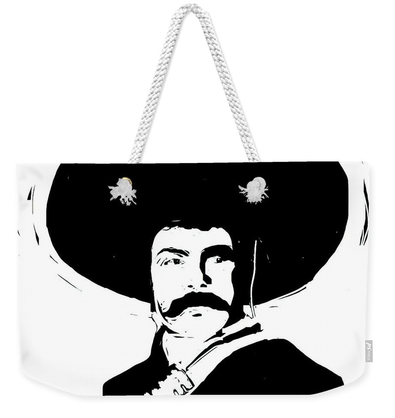 Zapata Weekender Tote Bag featuring the digital art Emiliano by Rob Prince