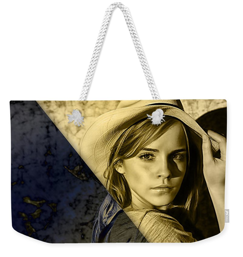 Emma Watson Weekender Tote Bag featuring the mixed media Emma Watson Collection by Marvin Blaine