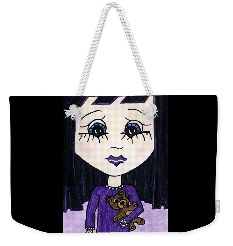 Emo Weekender Tote Bag featuring the painting Emo Girl IIi by Tambra Wilcox