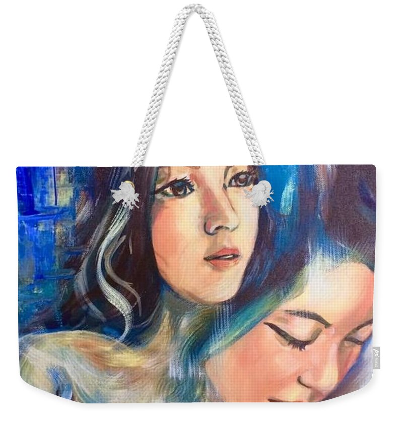 Weekender Tote Bag featuring the painting Emotions by Niti Is a painter