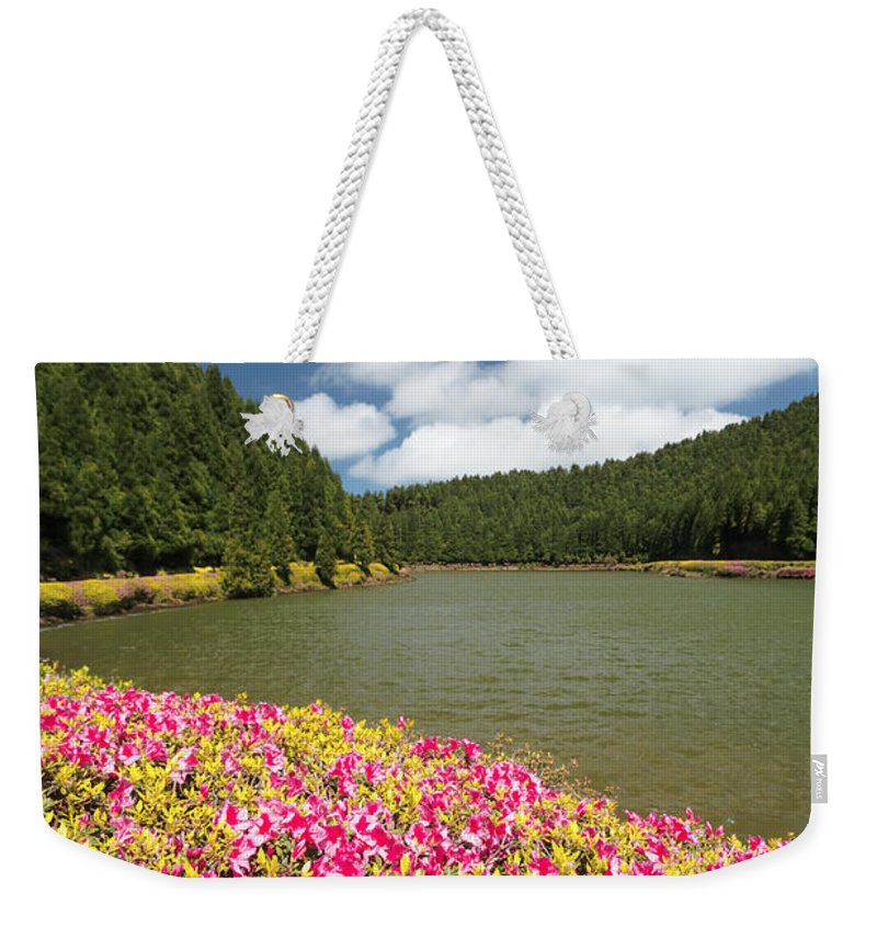 Portugal Weekender Tote Bag featuring the photograph Empadadas Lakes II by Gaspar Avila