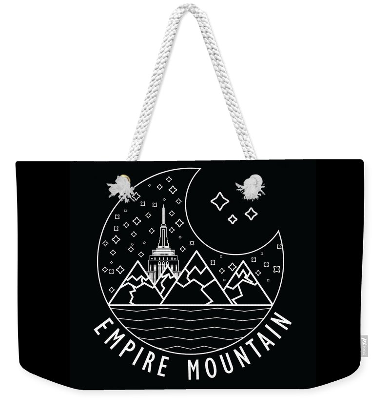 Empire State Weekender Tote Bag featuring the digital art Empire Mountain by Flavio Filho